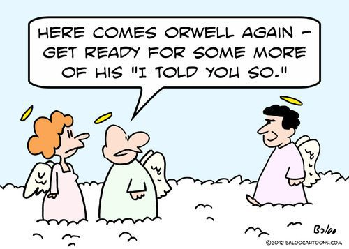 George Orwell in Heaven