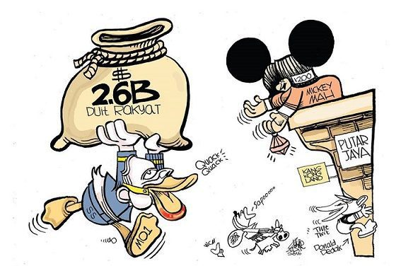 Zunar grants IGP wish, draws Donald de duck