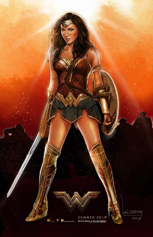 This is the second artwork for this year by The Art of Wallace Destiny. Are you excited for Wonder Woman just as he is? :D