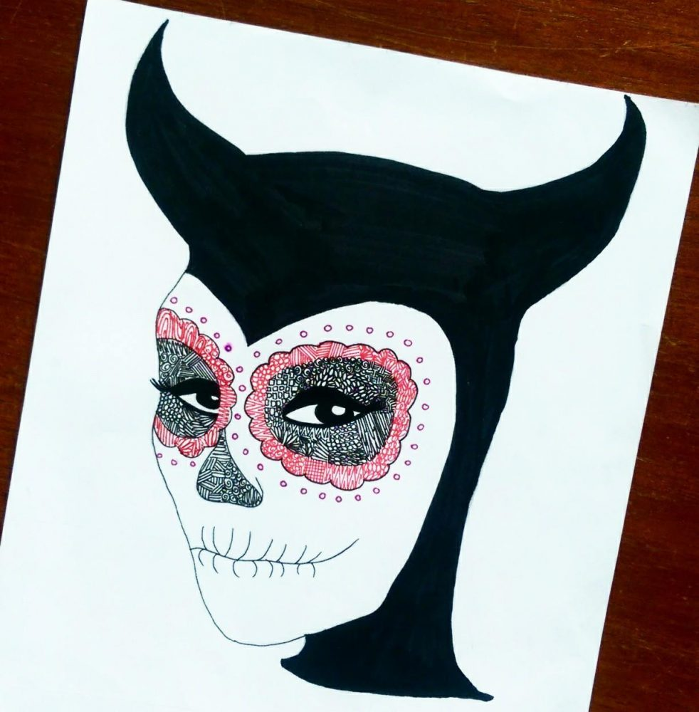 Here is Michelle Francis's minimalistic take on Maleficent!