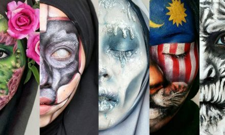 Using make up and paint, this woman shape-shifts into different characters!