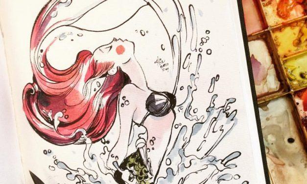 A Sarawakian artist is behind these dreamy mermaid artworks